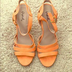 Coral Heel Sandals